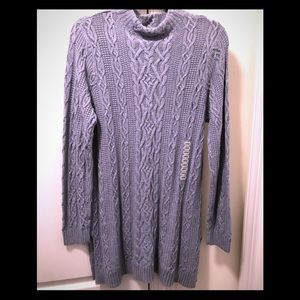 NWOT Cotton  cable mock neck sweater